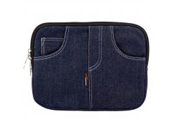 """Чехол для нетбука, планшета, iPad  LF1006 до 10 джинс, синий, подкладка замш, Размеры, мм: 290x35x220"""""""