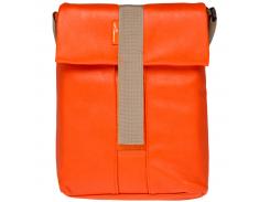 """Плечевая сумка для планшета/нетбука LF-1305 до 10,1 кожзам, рыжий, плечевой ремень"""""""