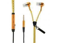 Наушники Classic (МР3/МР4) 3,5мм Zipper золотой