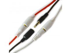 AUX cable удлинитель для наушников 3.5mm белый