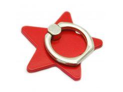 Кольцо держатель ZQGK Звезда для телефона Красный