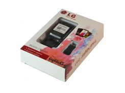 Зарядное сетевое (2 в 1) LG G3 / G4 (MCS-04BR) (5.0V 1800mA) черный