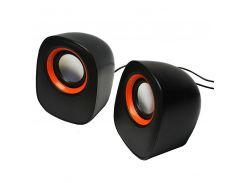 Колонки компьютерные Jedel D-05 Черный+оранжевый