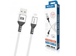 Кабель USB BRUM Flexible U009i Lightning (2.4A) (1M) Белый