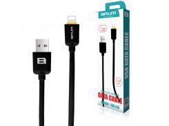 Кабель USB BRUM Silicon U008i Lightning (2.1A) (1M) Чёрный