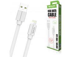 Кабель USB BRUM Silicon U010i Lightning (2.4A) (1M) Белый