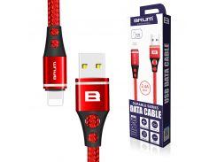 Кабель USB BRUM Durable U014i Lightning (2.4A) (1M) Красный