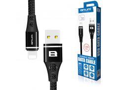 Кабель USB BRUM Durable U014i Lightning (2.4A) (1M) Чёрный