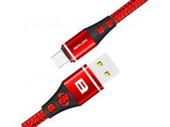 Кабель USB BRUM Durable U014m Micro USB (2.4A) (1M) Красный