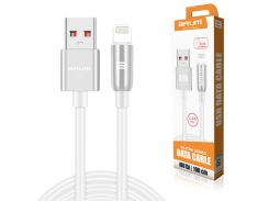 Кабель USB BRUM Silicon U015i Lightning (2.4A) (1M) Белый