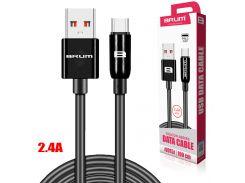 Кабель USB BRUM Silicon U015t Type-C (2.1A) (1M) Чёрный