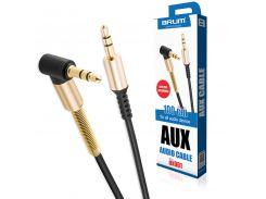 AUX cable 3.5mm BRUM UX001 (1M) Чёрный