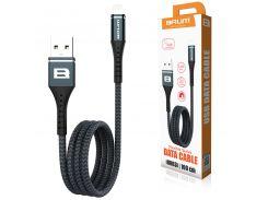 Кабель USB BRUM Flexible U003i Lightning (2.4A) (1M) Чёрный