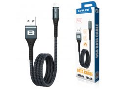 Кабель USB BRUM Flexible U003m Micro USB (2.4A) (1M) Чёрный