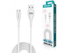 Кабель USB BRUM Flexible U004m Micro USB (2.1A) (1M) Белый