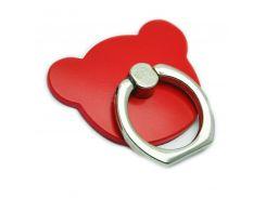Кольцо держатель ZQGK Медведь для телефона Красный
