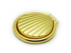 Кольцо держатель ZQGK Ракушка металл для телефона Золотой