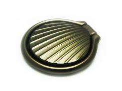 Кольцо держатель ZQGK Ракушка металл для телефона Чёрный
