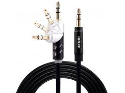 AUX cable 3.5mm BRUM UX005 (1.5M) (360°) Чёрный