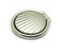 Кольцо держатель ZQGK Ракушка металл для телефона Серебристый