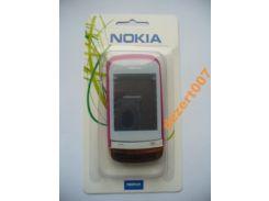 Корпус Nokia C2-06 Pink+ клавиатура ААА класс