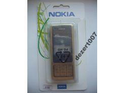 Корпус Nokia 6300 Gold-B+ клавиатура ААА класс
