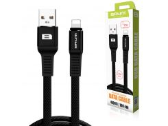 Кабель USB BRUM Flexible U007i Lightning (2.1A) (1M) Чёрный