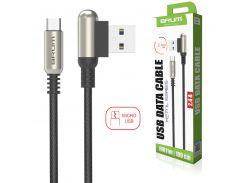 Кабель USB BRUM Metal U011m Micro USB (2.4A) (1M) Чёрный