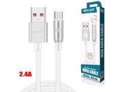 Кабель USB BRUM Silicon U015m Micro USB (2.4A) (1M) Белый