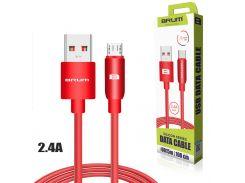Кабель USB BRUM Silicon U015m Micro USB (2.4A) (1M) Красный