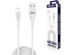 Кабель USB BRUM Flexible U004i Lightning (2.1A) (1M) Белый