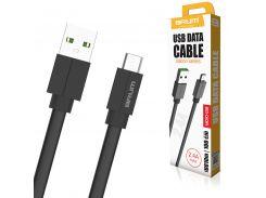 Кабель USB BRUM Silicon U010m Micro USB (2.4A) (1M) Чёрный