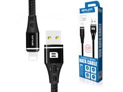 Кабель USB BRUM Durable U014i Lightning (2.4A) (1M) Чёрный