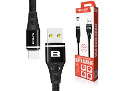 Кабель USB BRUM Durable U014t Type-C (2.4A) (1M) Чёрный