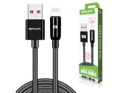 Кабель USB BRUM Silicon U015i Lightning (2.4A) (1M) Чёрный