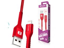Кабель USB BRUM Flexible U018i Lightning (2.4A) (1M) Красный