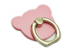 Кольцо держатель ZQGK Медведь для телефона Розовый