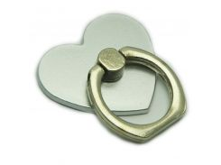 Кольцо держатель ZQGK Сердце для телефона Серебристый