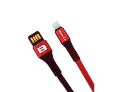 Кабель USB BRUM Strong U002m Micro USB (2.4A) (1M) Красный