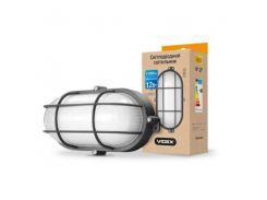 LED светильник (ЖКХ) овальный 12W 5000K 220V черный усиленный