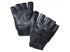 Перчатки Rothco Fingerless Biker Gloves кожа.