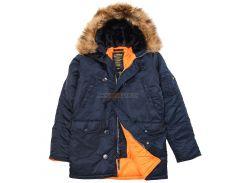 Зимова куртка аляска Alpha Industries Slim Fit N-3B Parka, синя, USA