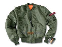 Куртка MA-1 Alpha Industries, оливкова