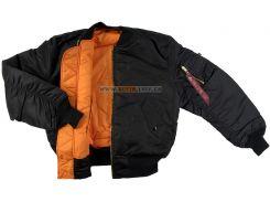 Куртка бомбер MA-1 Alpha Industries, чорна