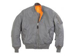 Льотна куртка MA-1 Alpha Industries, воронений метал