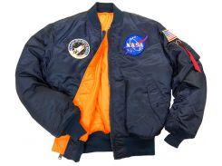 Льотна куртка NASA MA-1 Flight Jacket Alpha Industries, синя