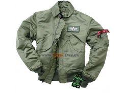 Куртка пілот CWU 45 P Alpha Industries, оливкова