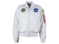 Льотна куртка NASA MA-1 Flight Jacket Alpha Industries, біла