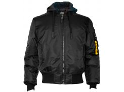 Бомбер Top Gun MA-1 Nylon Bomber jacket with hoodie, чорний, USA