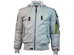 Бомбер Top Gun MA 1 Nylon Bomber jacket with hoodie, сірий, USA